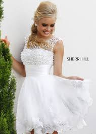 sherri hill 4302 elegant pearl beaded cocktail dress short prom
