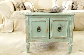 How To Cheat A Distress Furniture Look Cheap White Lace Cottage