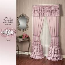 Pink And Purple Ruffle Curtains by Enchante Dusty Mauve Ruffled Window Treatment