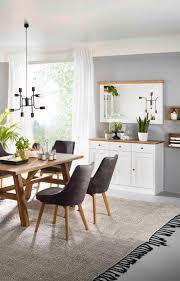 set sideboard spiegel eiche massiv weiß landhaus kommode wandspiegel massiv lanatura