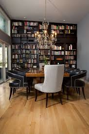 Dining Room And Home Library Rolled Into One With Classic Flair Design Tongue