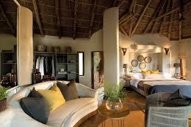 African Safari Themed Living Room by Madikwe Safari Lodge Rooms