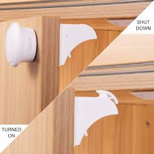 Childproof Cabinet Locks No Screws by Adoric Adoric Baby Safety Magnetic Cabinet Locks