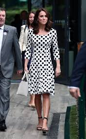 kate middleton radiant in a polka dot dress at wimbledon daily