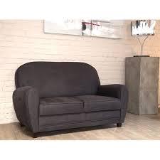 canapé vieux cuir canapé 2 places imitation vieux cuir gris meuble house