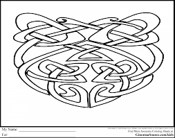 Good Celtic Knot Coloring Pages With And