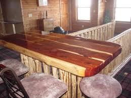 K And A Log Furniture Red Cedar Bar Top