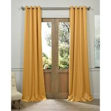 Thermal Curtain Liner Grommet by Exclusive Fabrics Marigold Grommet Blackout Thermal Curtain Panel