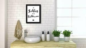 badezimmer muster minimalistische wandkunst bilder lustig wc