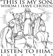 Jesus Appearance Is Changed Coloring Page