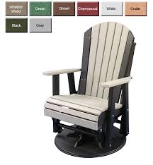 outdoor poly furniture luxury poly paglbch adirondack glider