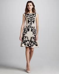 mcq floral intarsia knit dress in black lyst