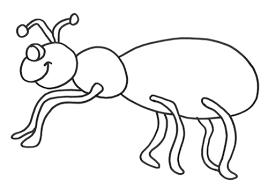 Ant Free Printable Coloring Sheet For Kids Drawing Animal