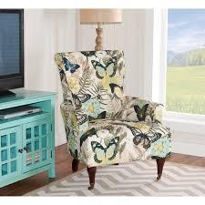 Linon Home Decor Junnell Botanical Print Polyester Arm Chair