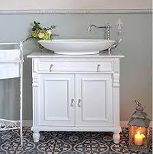 landhaus waschtisch mit marmorplatte