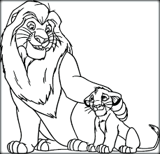 Simba And Mufasa Coloring Pages The Lion King To Print Sarabi Full Size