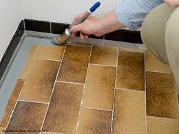 renovation carrelage sol cuisine peinture carrelage pour le sol décoration