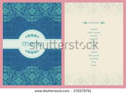 Classic Style Flower Decorated Menu