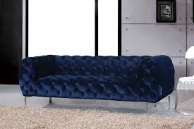 meridian furniture mercer 646navy s modern tufted top quality navy