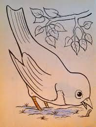 Bird Image From The Coloring Book