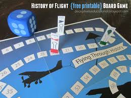 History Of Flight Printable Board Game Relentlessly Fun Deceptively Educational