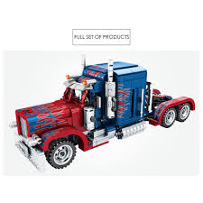 100 Big Truck Toys Sembo Movie Transformers Series Optimus Prime Big Truck Building Blocks 849pcs Kids Toy Spelling Educational Toys Gift