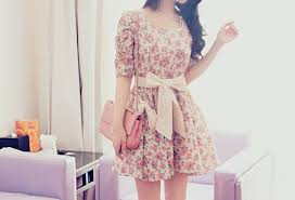 Dress Tumblr Cute Tie Floral Sweet Vintage Lace Up Bows