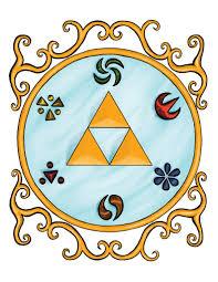 Zelda Triforce Lamp Uk by Legend Of Zelda Triforce And Sage Emblems Art Print