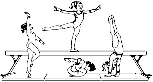 Gymnastics Coloring Sheet