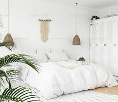 scandiboho style bedroom stock photo image now