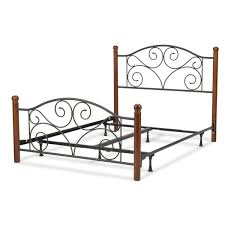 Doral plete Metal Bed with Wooden Posts Free Shipping Today