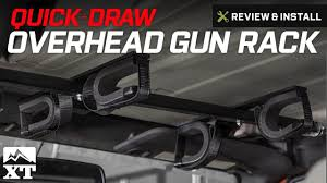100 Gun Racks For Trucks Wrangler QuickDraw Overhead Rack For Tactical Weapons 19872017 YJ TJ JK Review Install