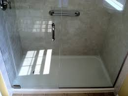 one shower stall home depot kit cost of tile vs fibergl base