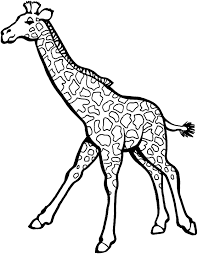Fast Moving Giraffe Coloring Picture For Kids