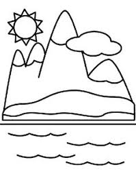 Mountain Coloring Pages Free