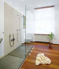 begehbare dusche mit granitplatte modern badezimmer