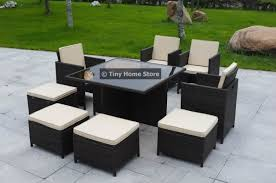 Ebay Patio Furniture Uk by New Cube Rattan Dining Set Garden Furniture Patio Conservatory