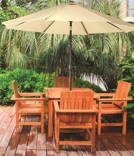 Seasonal Trends 60036 Market Crank Umbrella, 55.1 in L x 5-1/21 in W x 5-1/21 in H, Taupe