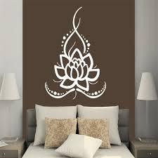 stikers chambre t06077 lotus indien bouddha autocollants murale chambre