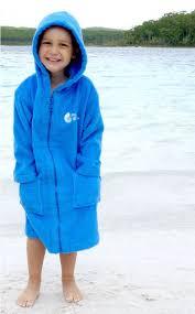 Swim Robes Beach Jacket Hooded Towel Towelling Robe Kids