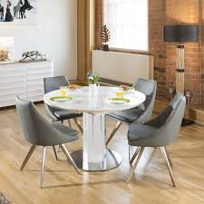 Excellent White Contemporary Dining Table Oval Home Sets ...