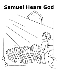 1 Samuel Eli And Boy Hears God Coloring Page