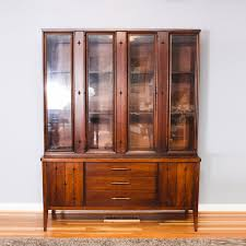 Mid Century Modern China Cabinet By Broyhill Furniture