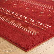 NEW Zante Clan Red Rug Texture Close Up Budget Machine Woven