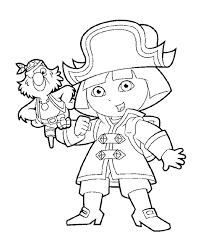 Stunning Dora Halloween Coloring Pages With The Explorer And