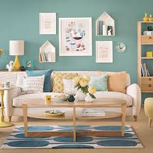 teal living room with black and white accents