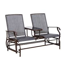 Outsunny Patio Furniture Assembly Instructions by Aosom Outsunny 2 Person Outdoor Mesh Fabric Patio Double Glider