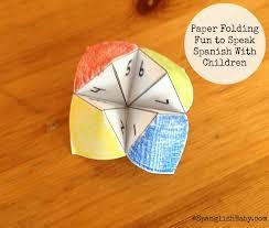 Paper Folding Fun To Speak Spanish With Children