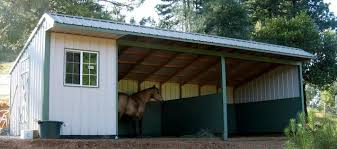 Livestock Loafing Shed Plans by Shedrow Gable Shed Gambrel Barn Horse Barns Loafing Shed