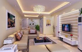 posh modern living room with recessed lighting